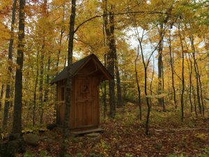 Even the outhouse is a work of art!