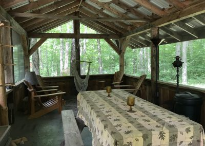 Screen porch / cookhouse