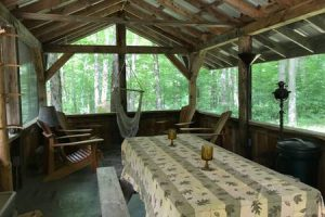 The screen porch / cookhouse | Adirondack Vacation Base